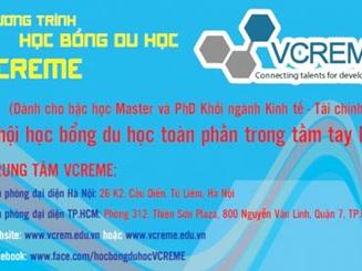 Cơ hội nhận học bổng VCREME năm 2014-15