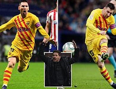 Lionel Messi tỏa sáng, Barcelona thắng sát nút Atletico