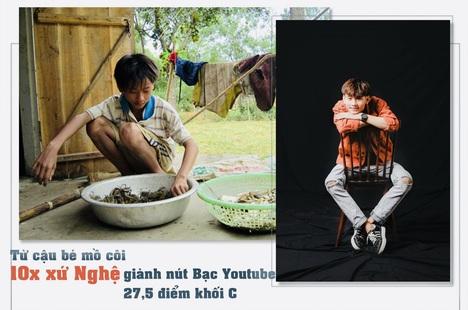 Từ cậu bé mồ côi bắt ốc kiếm tiền, 10x xứ Nghệ giành nút Bạc Youtube