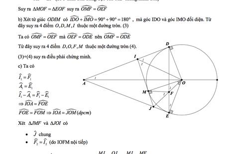 TP.HCM: Gợi ý đáp án đề thi môn Toán vào lớp 10 THPT