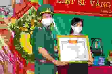 Truy tặng Bằng Tổ quốc ghi công cho liệt sĩ biên phòng tại Quảng Bình