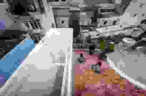 Nhà ở Sài Gòn có mái cong vút, nơi có thể tiếp khách cả ngày không chán