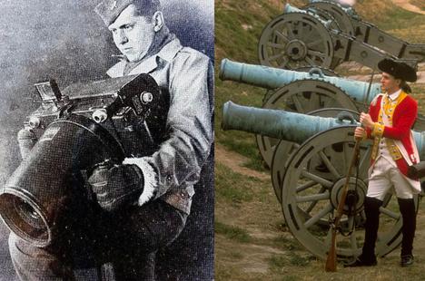 """Chiếc camera """"khổng lồ"""" như ... súng đại bác thời Thế Chiến II"""
