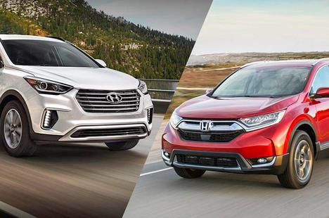 Xe gia đình 7 chỗ nên mua Honda CR-V hay Hyundai SantaFe?