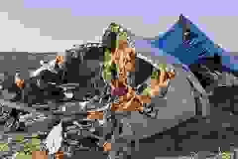 Phần đuôi bị gãy rời có thể hé lộ nguyên nhân tai nạn máy bay Nga