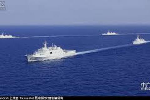 Hải quân Trung Quốc diễn tập đối kháng thực binh ở Biển Đông