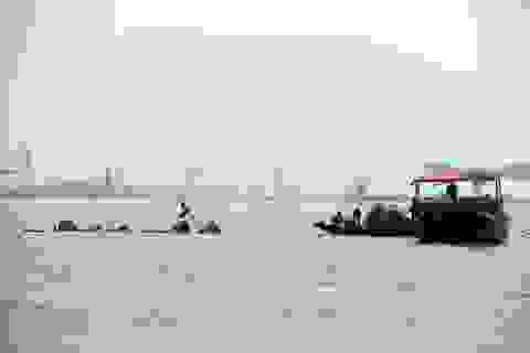 Cứu sống 4 ngư dân bị sóng biển đánh chìm tàu