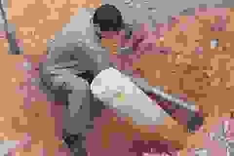 Mở đường lên chùa, phát hiện quả bom 125kg