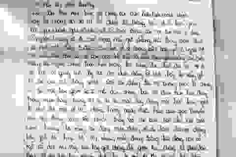 Những lá thư xin lỗi gửi từ trại giam