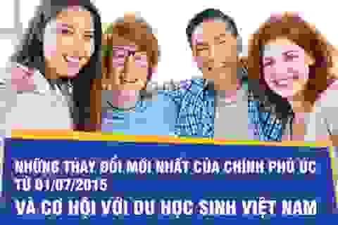 Những thay đổi mới nhất của chính phủ Úc từ 1/7/2015 và cơ hội với du học sinh Việt Nam