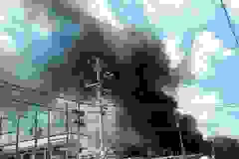 Cháy lớn tại công ty dệt may xuất khẩu