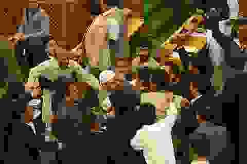 Nghị sĩ Ấn Độ ẩu đả giữa nghị trường