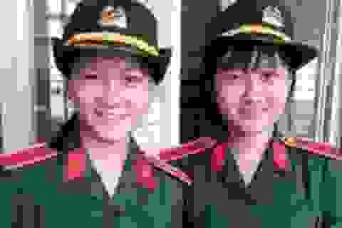 Chị em sinh đôi cùng đậu Học viện Kỹ thuật quân sự