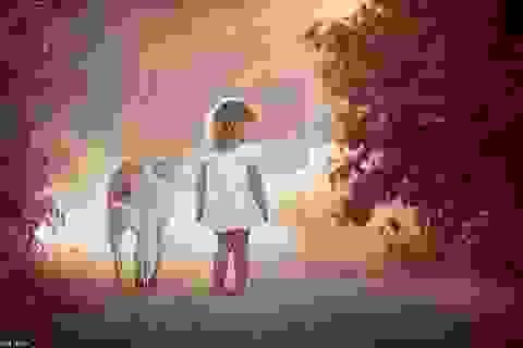 Ngọt ngào như trẻ thơ bên thú cưng