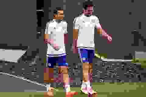 Pedro nhanh chóng ra sân tập cùng Chelsea
