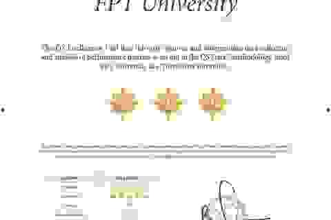 Tái kiểm định quốc tế, ĐH FPT giành 5 sao cho tỉ lệ việc làm