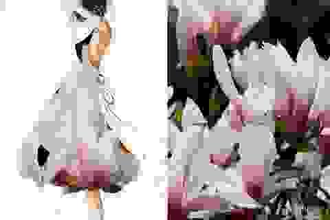 """Bộ sưu tập váy """"độc"""" với họa tiết từ cánh đồng, không trung"""