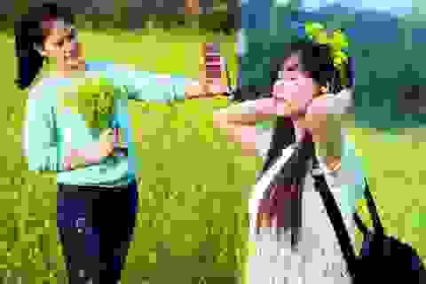 """Giới trẻ Hà thành """"làm duyên"""" bên hoa cải vàng"""