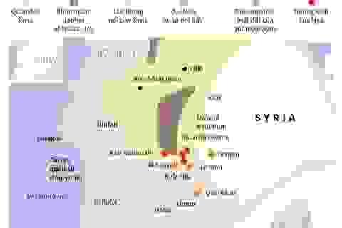 Đồ họa mục tiêu của IS bị Nga phá hủy tại Syria