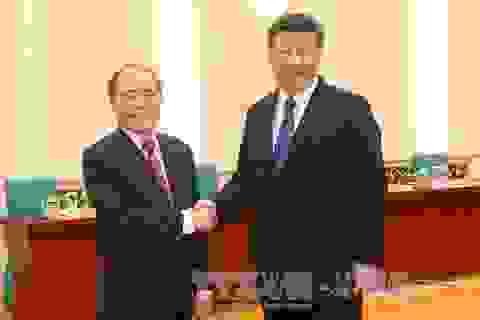 Chủ tịch Quốc hội Nguyễn Sinh Hùng hội kiến Chủ tịch Trung Quốc Tập Cận Bình