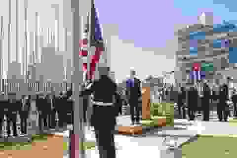 Quốc kỳ Mỹ lần đầu bay tại Cuba sau hơn nửa thế kỷ