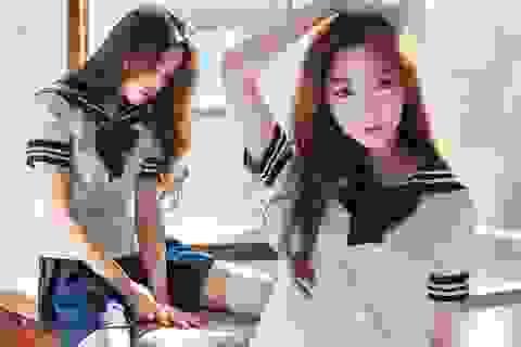 Mỹ nữ Hàn đẹp từng centimet trong đồng phục nữ sinh