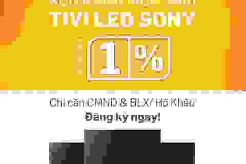 Rộn ràng mua sắm Tivi Led Sony – Lãi suất 1%