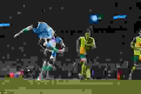 Man City hạ Norwich nhờ quả phạt đền ở phút 89