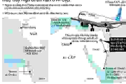 [Infographics] Toàn cảnh cuộc điều tra vụ rơi máy bay ở Ai Cập