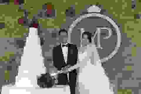 """Hồ Hạnh Nhi gợi cảm trong tiệc cưới đầy """"sao"""""""