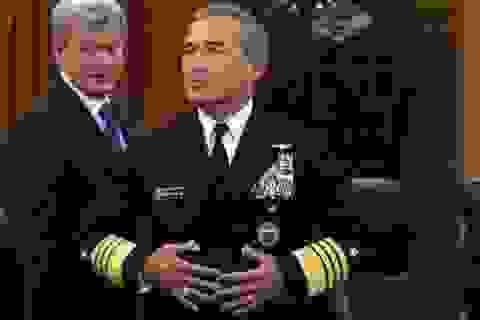 Tại Bắc Kinh, Tư lệnh Mỹ tuyên bố tiếp tục điều tàu tới Biển Đông