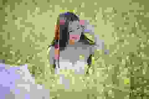 Thiếu nữ Hà thành tinh khôi, dịu ngọt bên đồng cải vàng