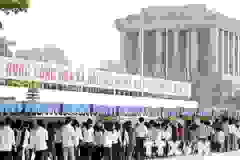 Từ 4/9: Tạm ngừng tổ chức viếng, tưởng niệm Chủ tịch Hồ Chí Minh