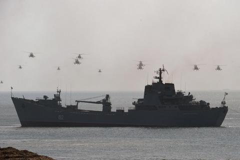 Anh định chặn dàn tàu chiến Nga trên đường tới Syria