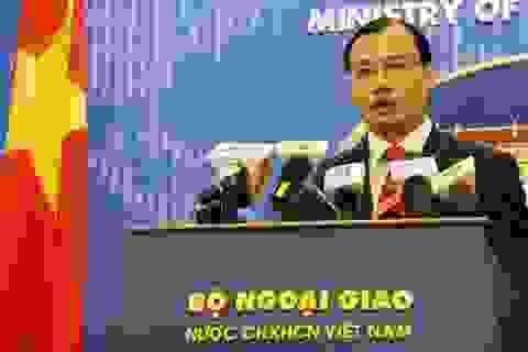Việt Nam lên tiếng về việc Mỹ đưa tàu chiến đến gần Hoàng Sa