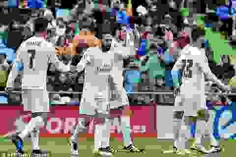 Thắng đậm Getafe, Real Madrid đuổi sát Barcelona