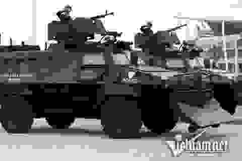 Dàn xe đặc chủng chống đạn của Cảnh sát cơ động Hà Nội