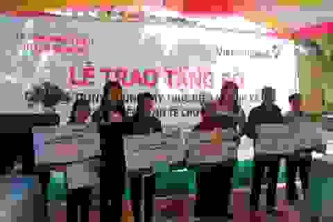 Vietcombank Quảng Ngãi tài trợ 100 con bò giống cho các hộ nghèo