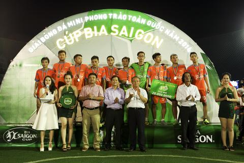 CLB An Huy Nguyên Khang FC lên ngôi vô địch Cúp Bia Sài Gòn khu vực Bình Định