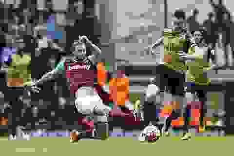 West Ham 3-3 Arsenal: Ghìm chân nhau