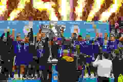 Leicester thắng đẹp Everton trong ngày nhận cúp vô địch