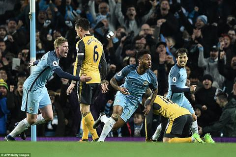 """Man City 2-1 Arsenal: Nỗi buồn """"Pháo thủ"""""""