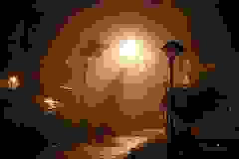 Bão quần thảo Đồ Sơn, cây cối xiêu vẹo trong gió lớn
