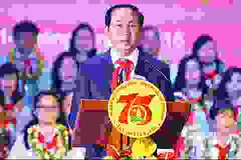 Chủ tịch nước dự kỷ niệm 75 năm thành lập Đội Thiếu niên Tiền phong