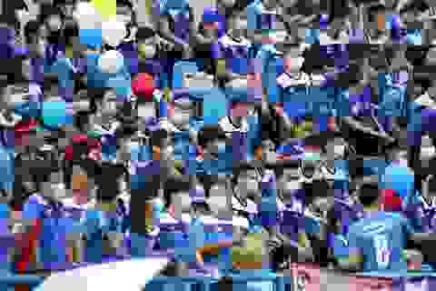 CĐV Than Quảng Ninh đeo khẩu trang vào sân để phản đối VPF