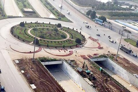 Ngắm công trình đường hầm tại nút giao 3 tầng ở Hà Nội