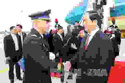 Chủ tịch nước Trần Đại Quang bắt đầu chuyến thăm cấp Nhà nước tới Italy