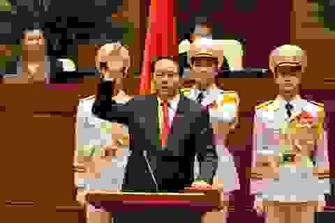 Tân Chủ tịch nước thề giữ vững chủ quyền Tổ quốc