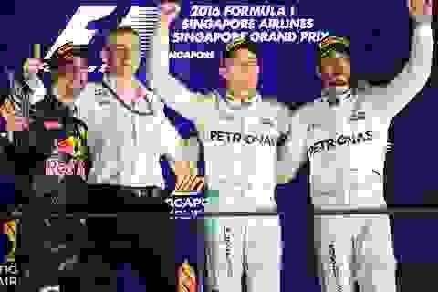 Nico Rosberg thắng tuyệt đối tại chặng đua Singapore