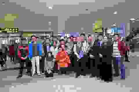 Hân hoan đón đoàn học sinh thi Vô địch Toán quốc tế trở về